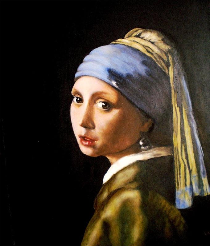 Vermeer lány gyöngy fülbevalóval